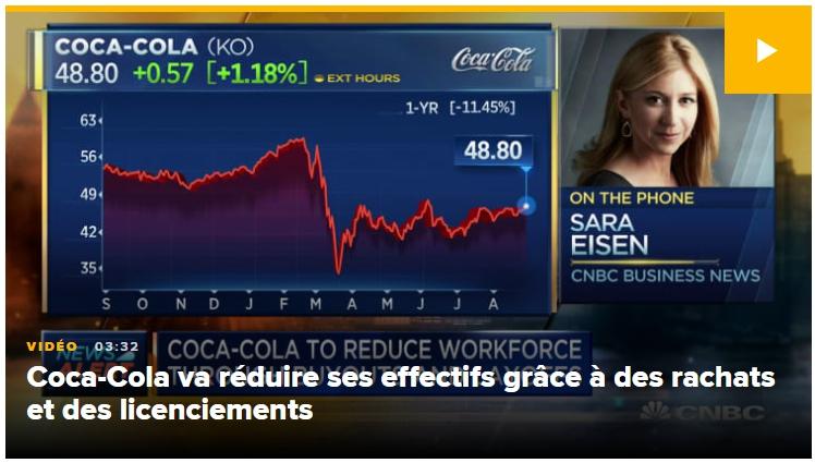 Coca-Cola va restructurer ses effectifs et met en place des suppressions d'emplois volontaires